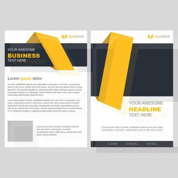 Yellow business brochure template with geometric shapes free yellow business brochure template with geometric shapes free cheaphphosting Gallery