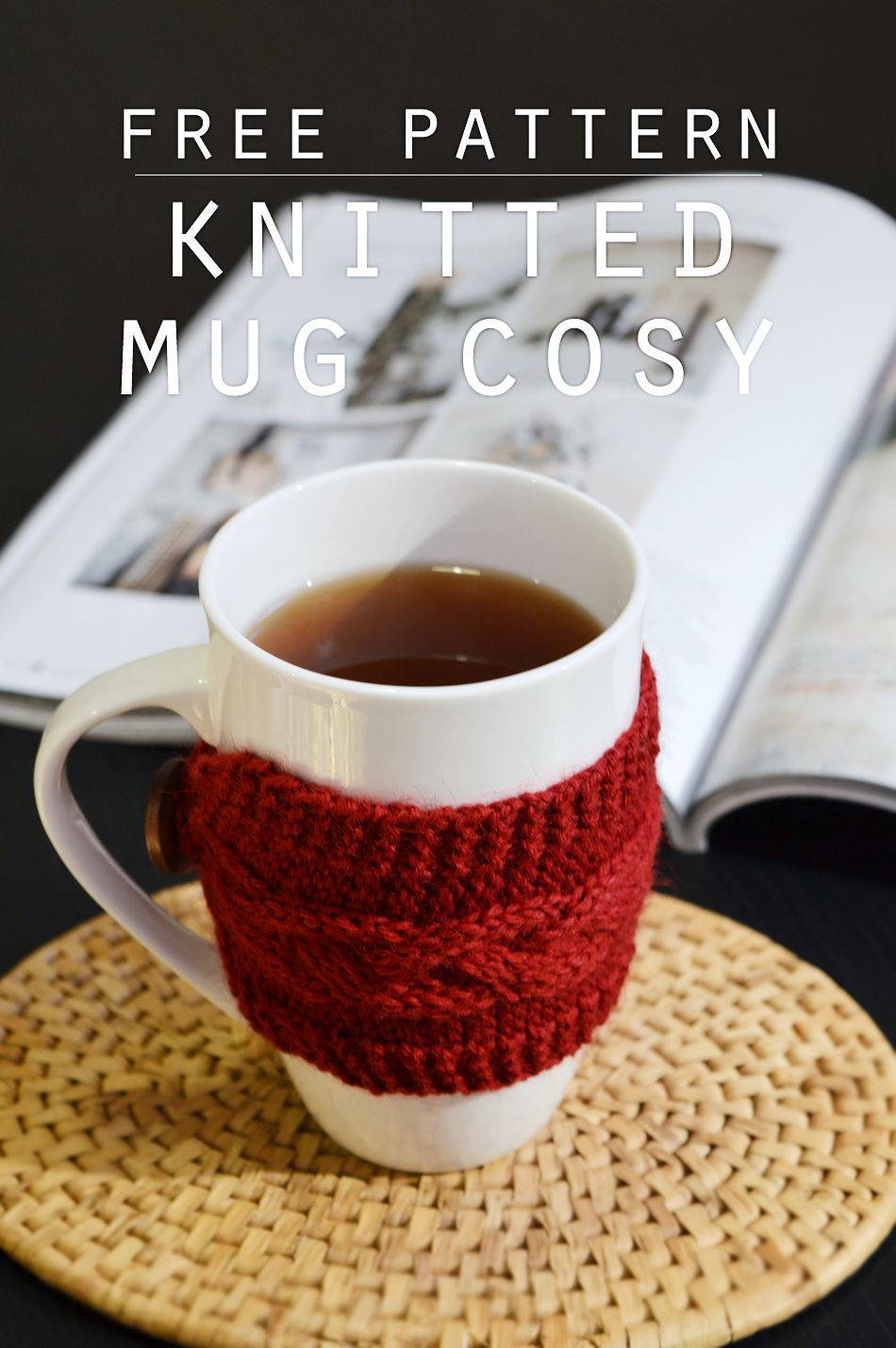 Free pattern for a braided cable mug cosy | Crafting Fingers ...
