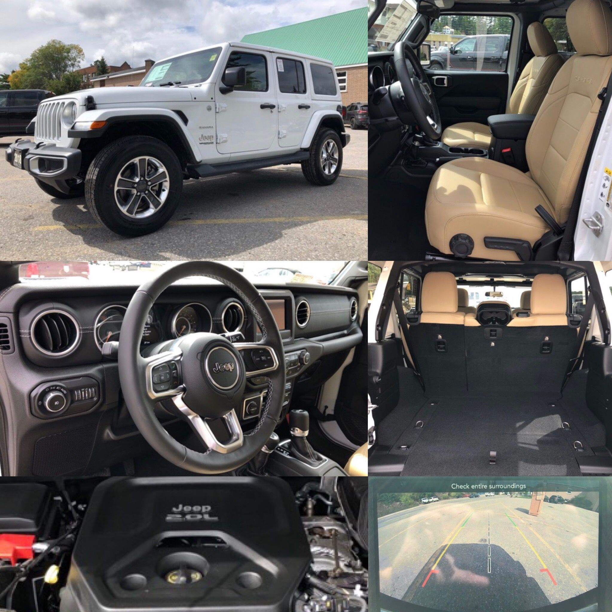 2018 Bright White Jeep All New Wrangler Unlimited Sahara 4x4