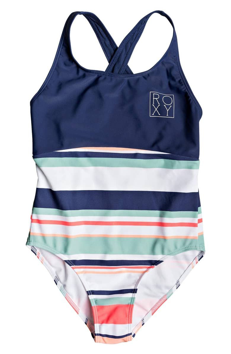 6990d7699d ROXY Happy Spring One-Piece Swimsuit, Main, color, BRIGHT WHITE ON MY WAY  SWIM