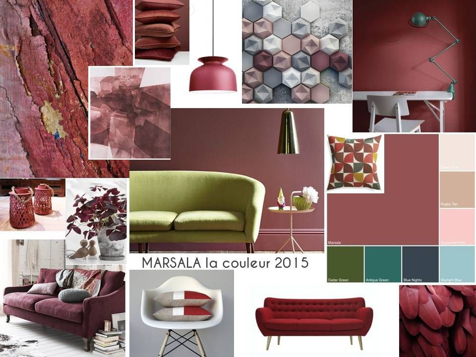 marsala couleur pantone de l 39 ann e 2015 maison pinterest. Black Bedroom Furniture Sets. Home Design Ideas