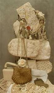 <3 vintage lace purses