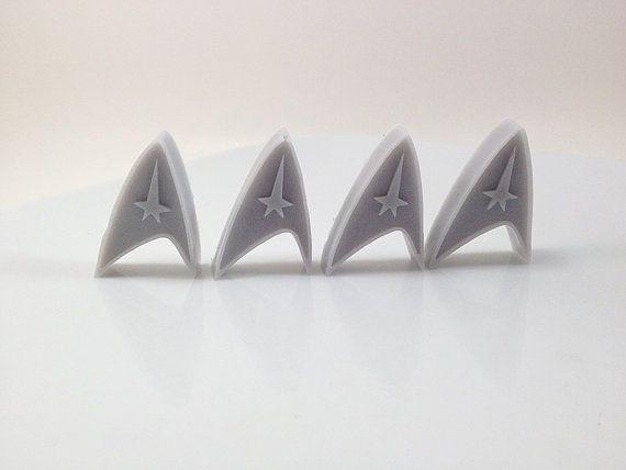 Star Trek Soap Handmade Glycerin Soap 4 pack Vegan by DirtyPirate, $4.50