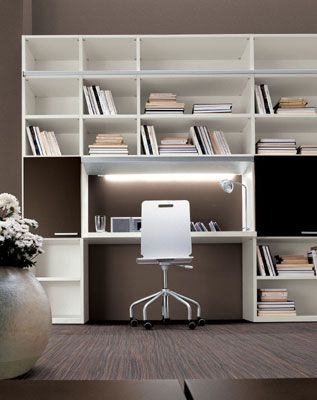 Scrivania con libreria | ♥ Home . (: ♥ | Bookcase desk, Living ...