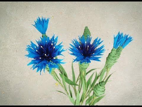 Comment Faire Fleur De Papier Cornflower A Partir De Papier Crepe