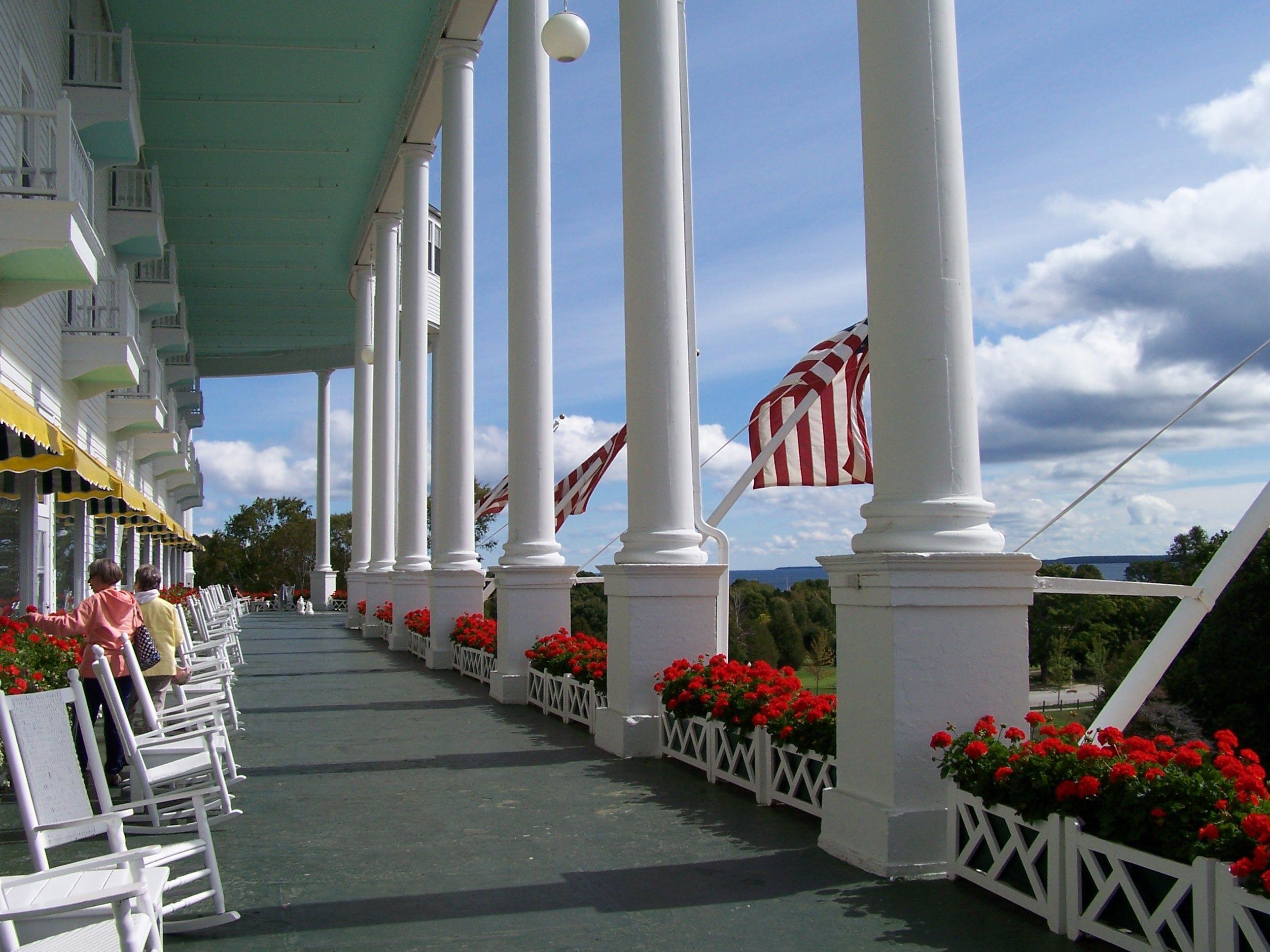 Grand Hotel Porch Mackinac Island Michigan