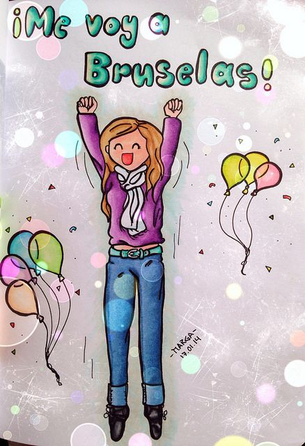 line art coloured with copics by lua_soleil on bit.ly/marutem, #copic #copics #art #drawing #girl #happy #balloons #jumping