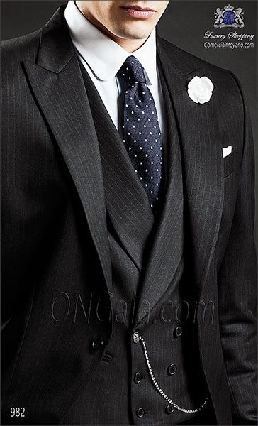 Traje de novio Chaqué negro 982 ONGala Wedding Morning suit
