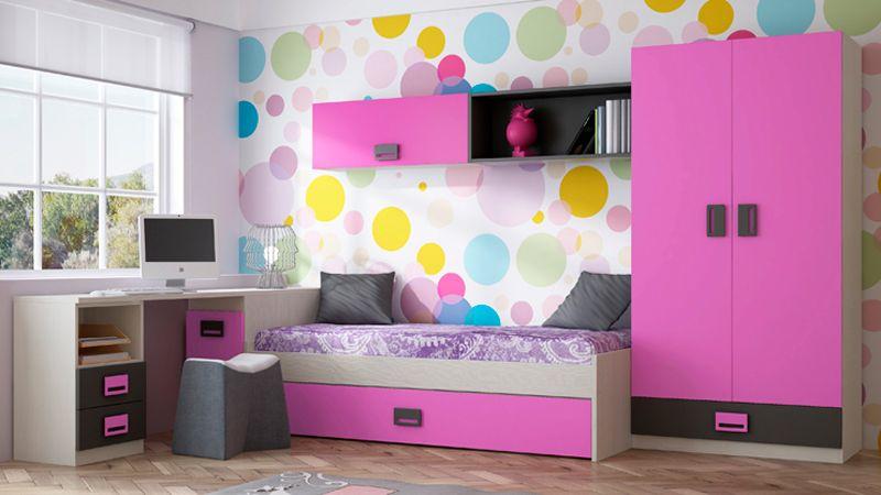 Decoracion de cuartos peque os para se oritas buscar con - Habitaciones juveniles ninas ...