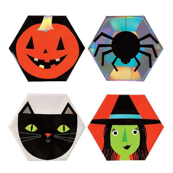 Our Halloween Assortment Plates are the perfect party supplies for