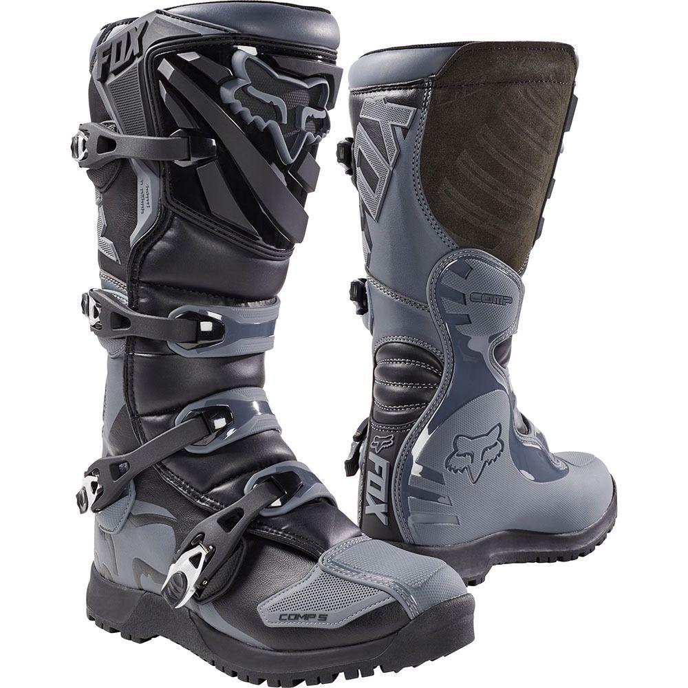 Fox 2018 Comp 5 Black Grey Offroad Boots Bike Boots Racing Boots Dirt Bike Boots