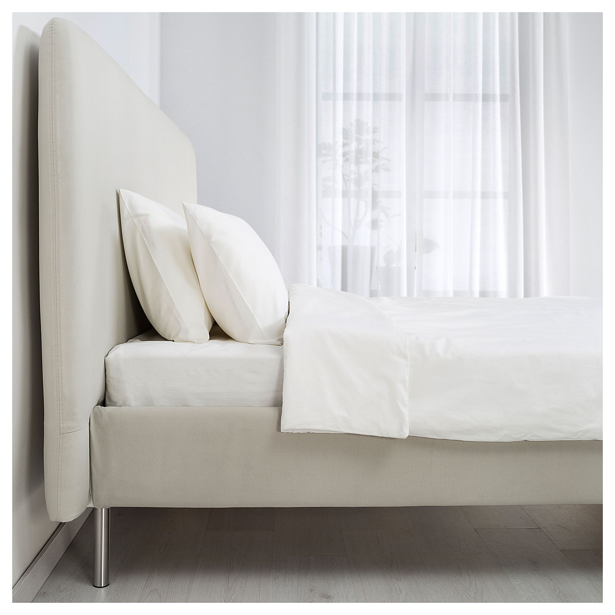 Ikea  Tomrefjord Bed Frame Beige, Leirsund