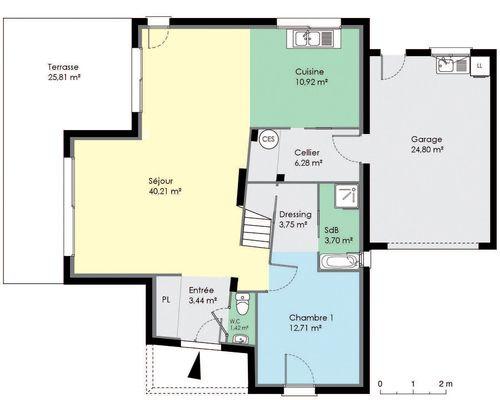 Maison moderne et économique - Plan Maison Moderne  Chambres