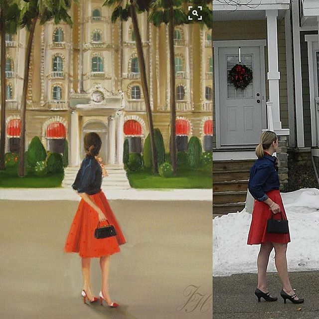 One of the most fun bloggy things I've done this year is planning my post for @skirtfixation's Living Skirt Art series. I searched high and low for a piece of art to recreate. I hit the jackpot when I discovered the amazing work from @janethillstudio. Read about it and see more photos on my blog! #livingskirtart #hollyburnskirt #sewaholicpatterns #archerbuttonup #grainlinestudioteridodds1archerbuttonup,livingskirtart,hollyburnskirt,sewaholicpatterns,grainlinestudio