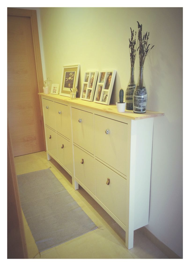 decorar pasillo con aparador hemnes de ikea
