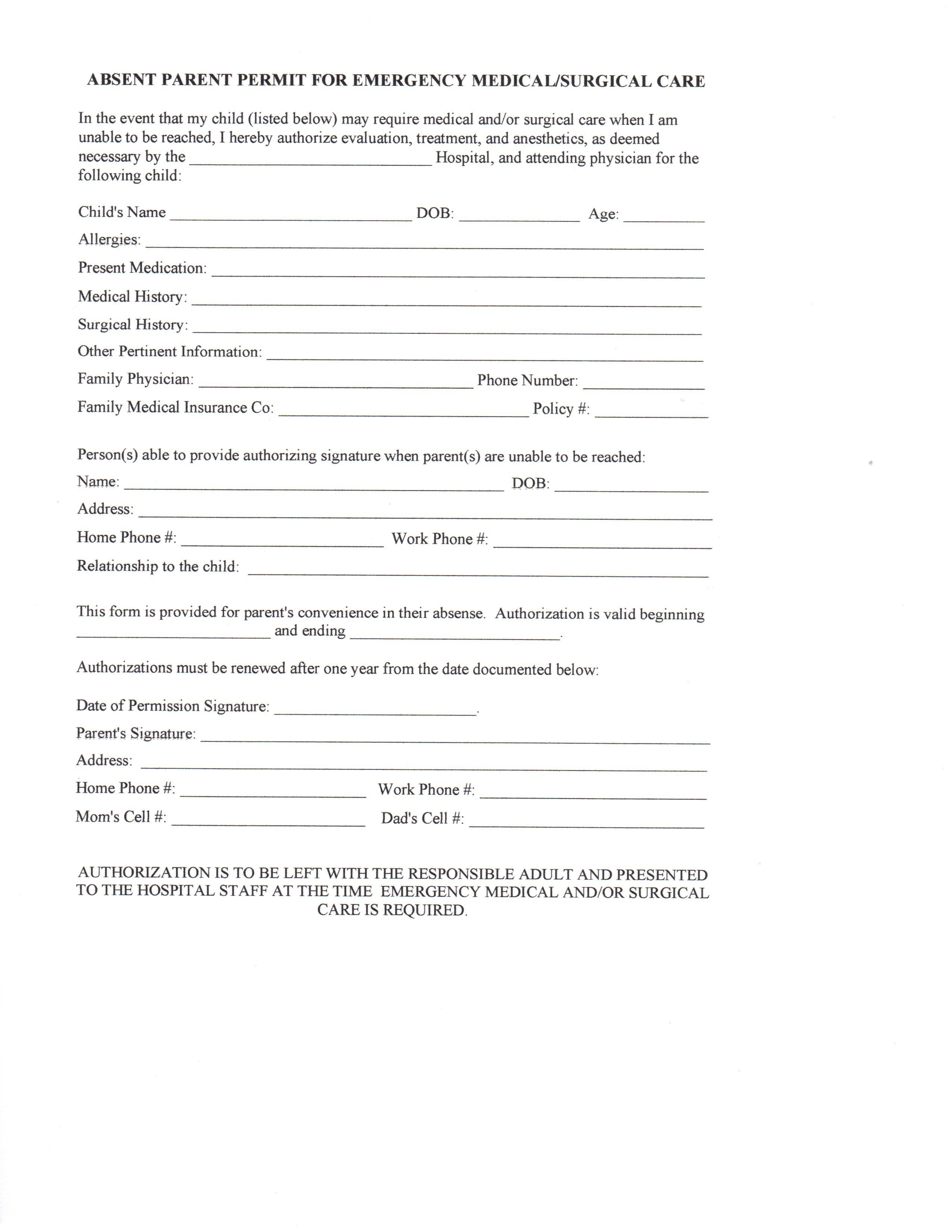 Daycare Medical Forms Daycare Printables Home Daycare Daycare Contract