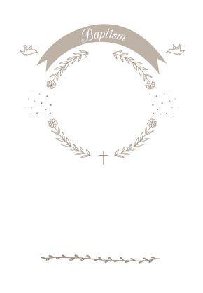 Ribbon Cameo - Free Printable Baptism & Christening Invitation ...