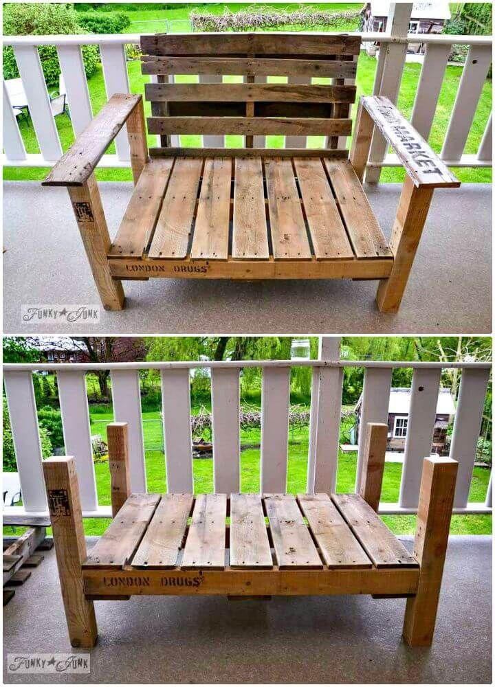 16 Diy Pallet Chair Ideas Diycraftsguru In 2020 Build Outdoor Furniture Wood Patio Chairs Patio Chairs Diy
