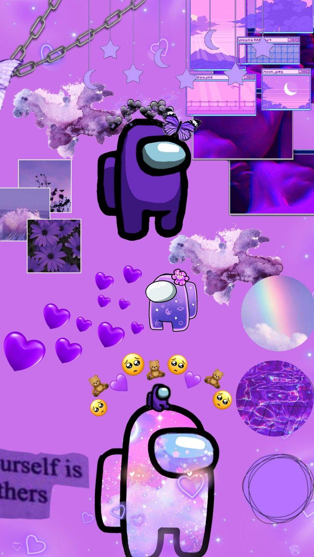 Among Us Wallpaper Funny Phone Wallpaper Cute Laptop Wallpaper Watercolor Desktop Wallpaper