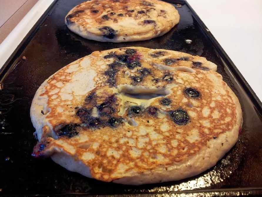 Ultra-Fluffy Blueberry Flax Pancakes | 3rd Story Bake Shop