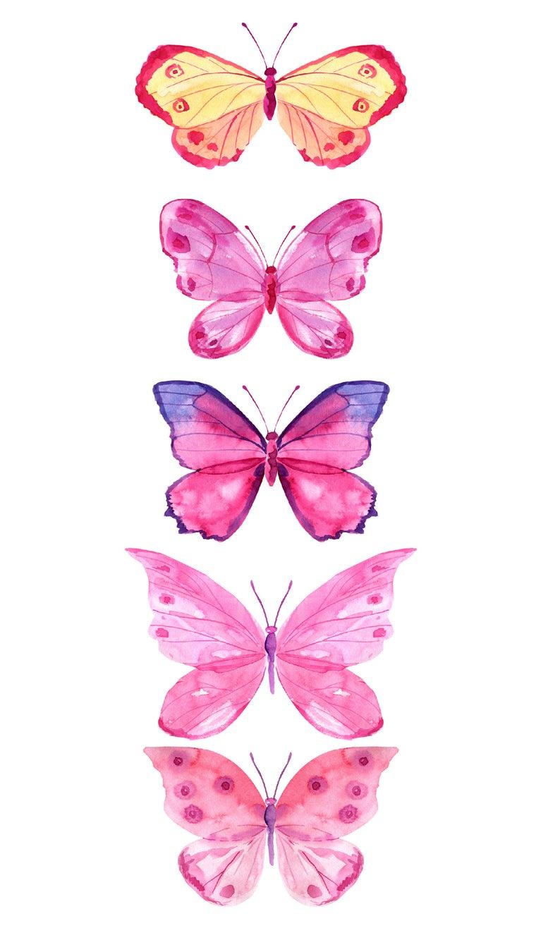 Watercolor Clipart Pink Butterfly Clip Art Digital Clipart Etsy Butterfly Painting Butterfly Drawing Butterfly Clip Art