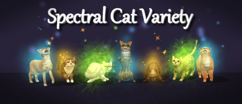 Mod Spectral Cat Varietyspectral Cats Are Cool But One Thing I Don T Like About Them Is That They Only Have 3 Possible Breeds Sims 4 Pets Sims Mods Sims Pets