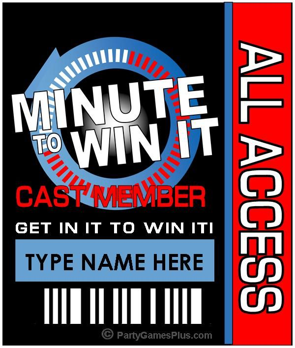 Minute To Win It Party Supplies