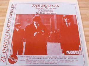 ZAP: The Beatles - 'Reunion Nonsense - Ninth Amendment', live Melbourne, Australia 1964 + live 1962 - 64 U.K. Poor to good mono