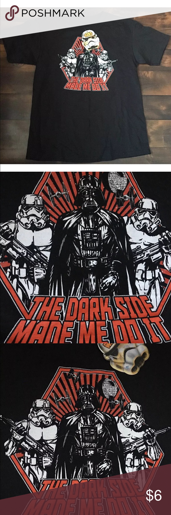 901bed17ea New STAR WARS Tee M Dark Side Made Me Do It Darth Brand new I believe it s  a 10 but check measurements . Boys medium Star Wars Shirts   Tops Tees -  Short ...