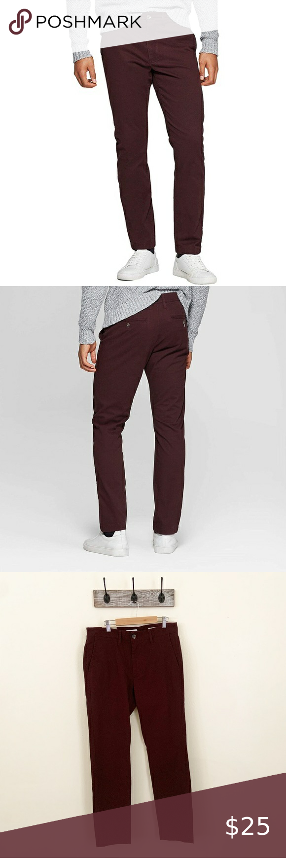 NWT Goodfellow Hennepin Skinny Chino Maroon 31x30 Brand new with tags - Original tags attached Men's