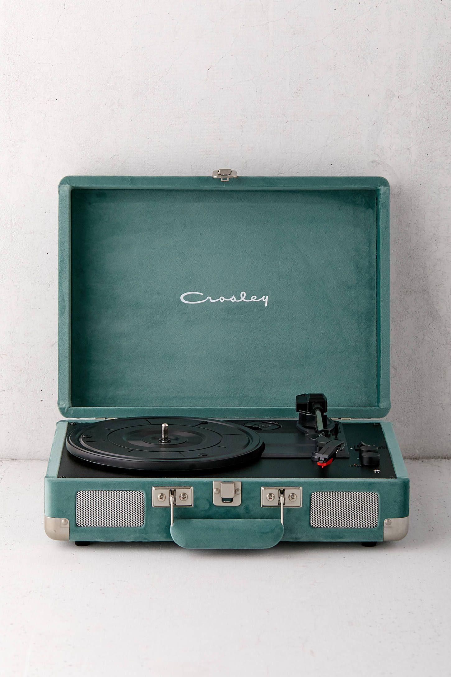 Crosley Uo Exclusive Quiet Jungle Velvet Cruiser Bluetooth Record Player Bluetooth Record Player Record Player Vinyl Record Player