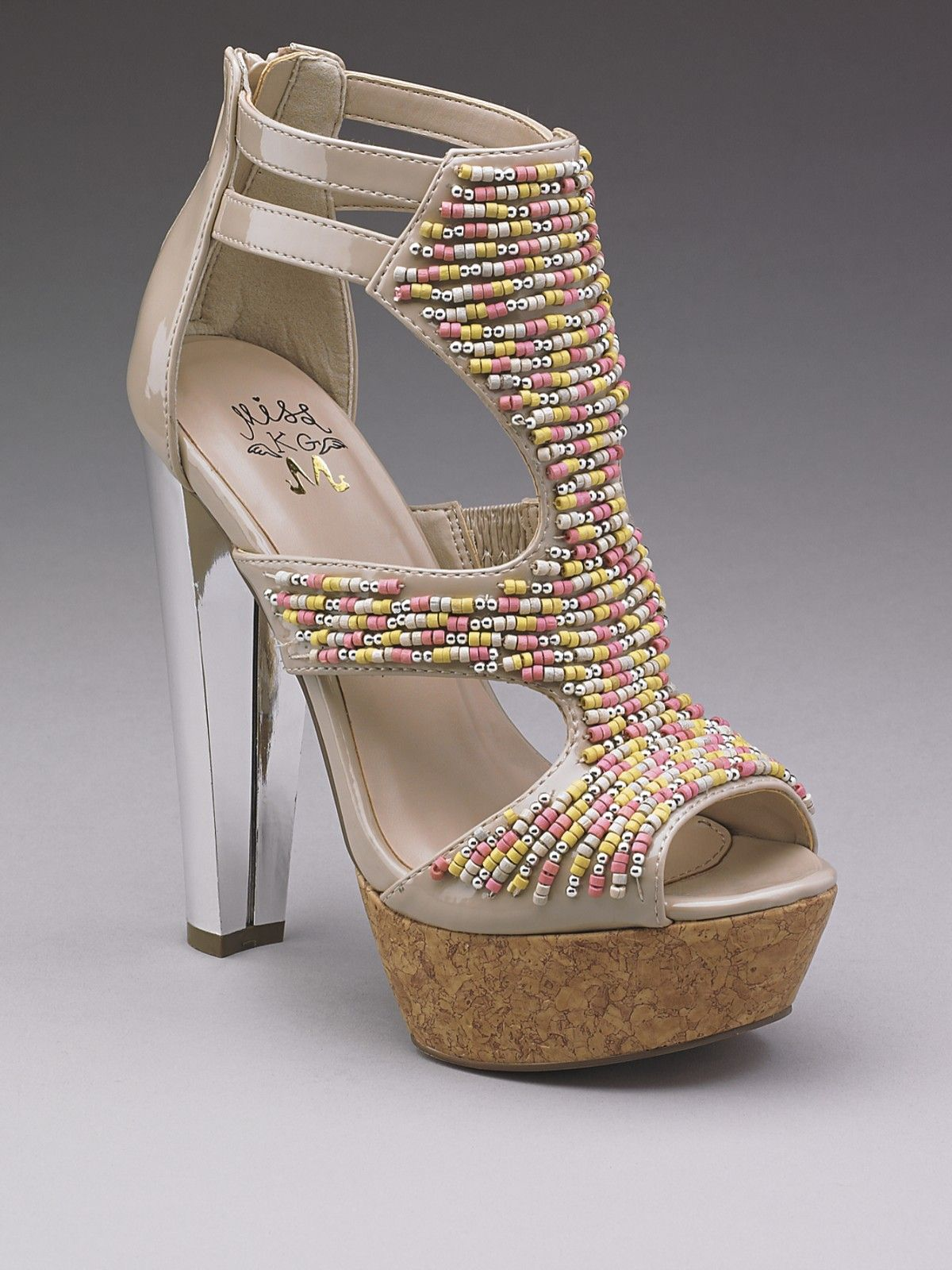 Neutral Beaded Shoes