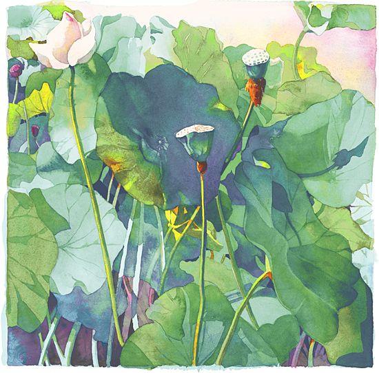 Kyoto By Marlies Merk Najaka Giclee Print Watercolor Paintings