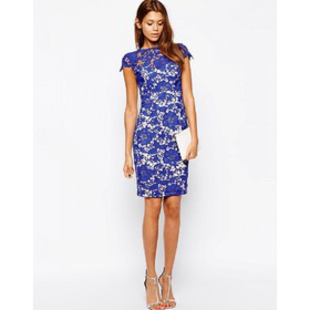 Blauwe Cocktailjurk.Blauw Kanten Jurk Jurkjes Crochet Lace Dress Dresses En Blue