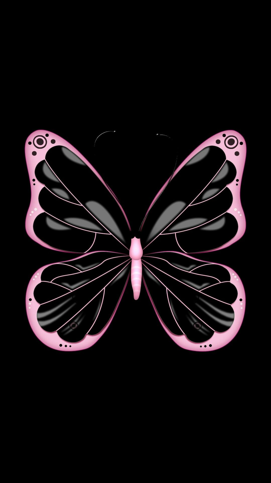 Black Pink Butterfly Butterfly Wallpaper Pink Butterfly