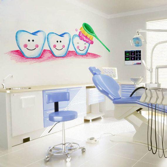 Arte dental decoraci n de oficina dental set regalo de - Decoracion clinica dental ...