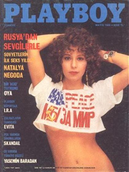 Playboy (Turkey) May 1989 with Natalya Negoda on the cover of the magazine