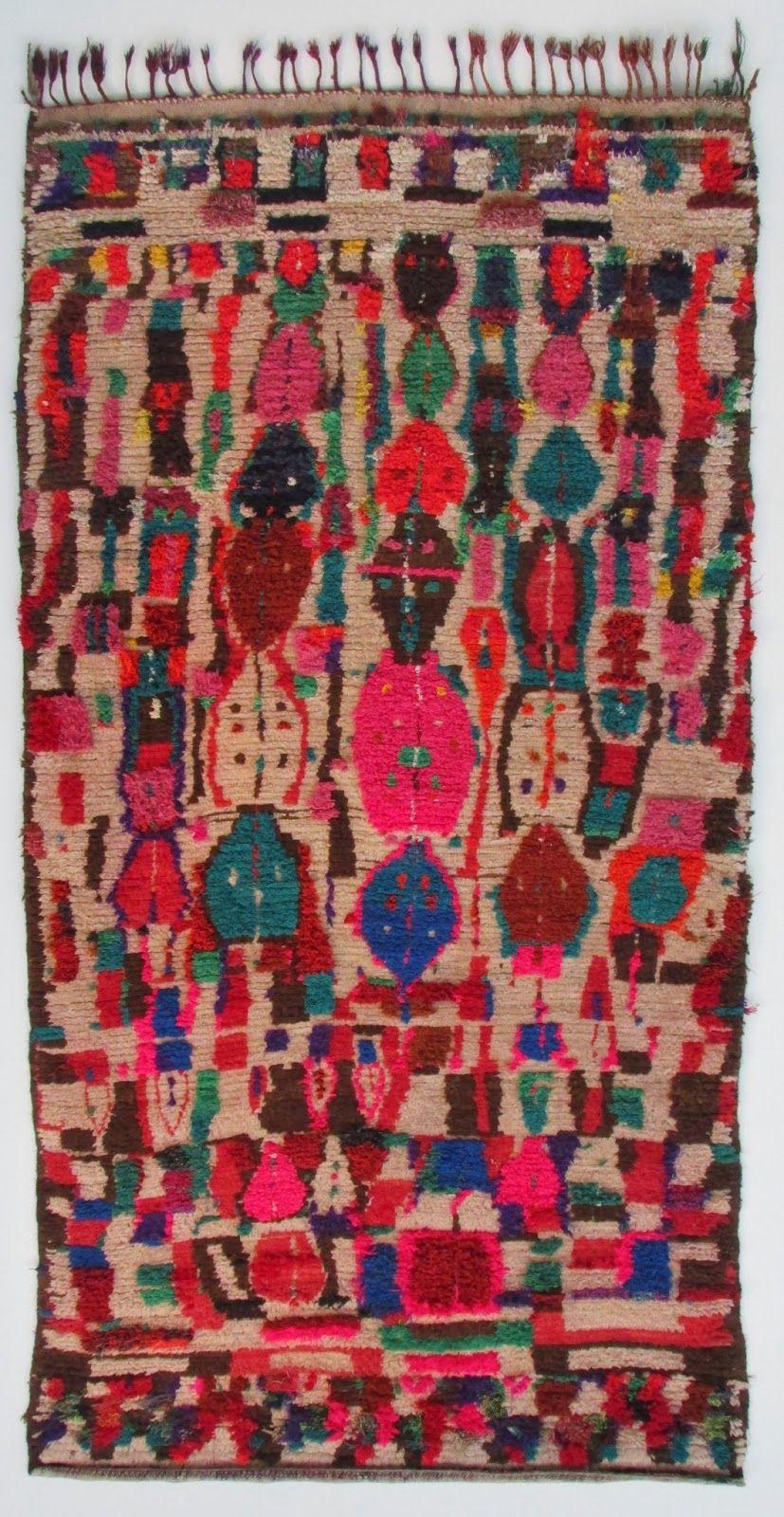 Tapis De L Ourika Vers 1980 Haut Atlas Maroc Boucherouite Rugs