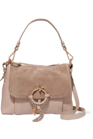 SEE BY CHLOÉ Joan small textured-leather and suede shoulder bag.   seebychloé  bags  shoulder bags  hand bags  suede   43563982ef