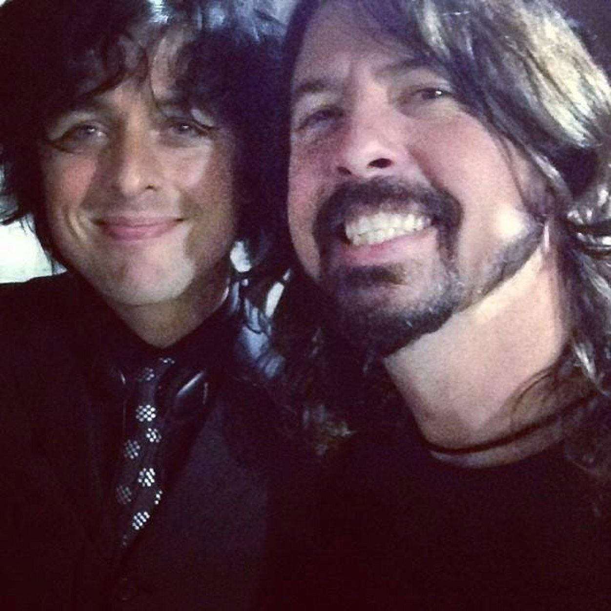 Billie Joe Armstrong and Dave Grohl