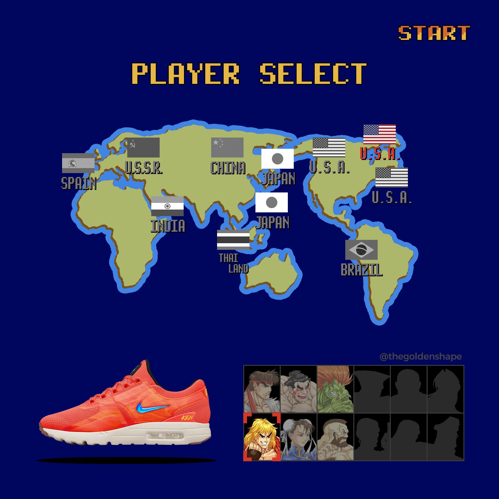 eb83f7dae15a Nike x Street Fighter II Turbo Air Max Zero Ken Masters