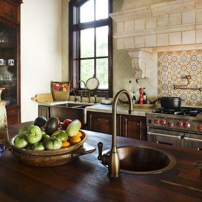44 Reclaimed Wood Rustic Countertop Ideas   Spanish style, Spanish ...