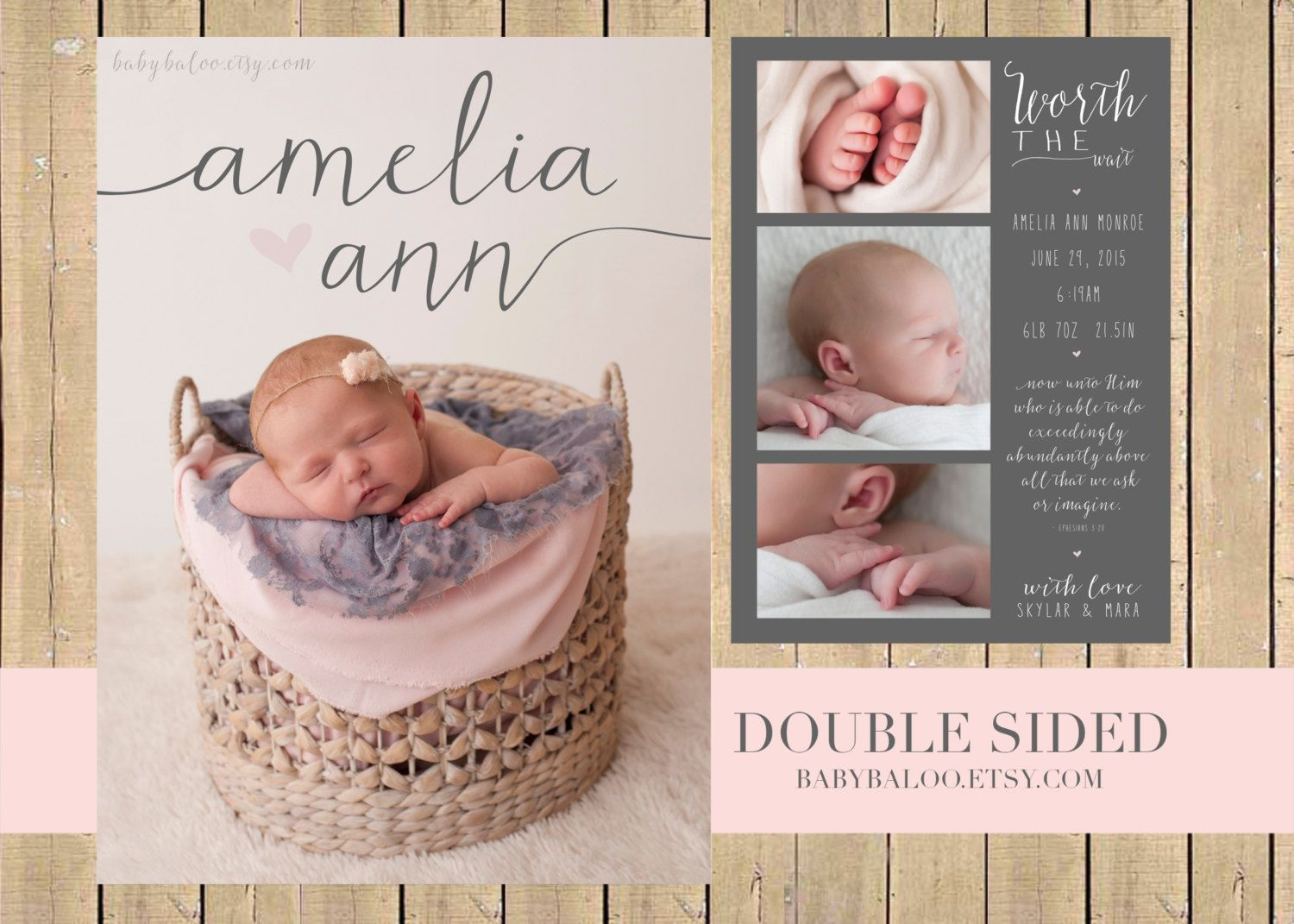 Best 25 Girl birth announcements ideas – Inexpensive Birth Announcements