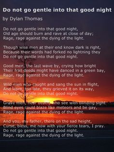 sunset poem dylan thomas