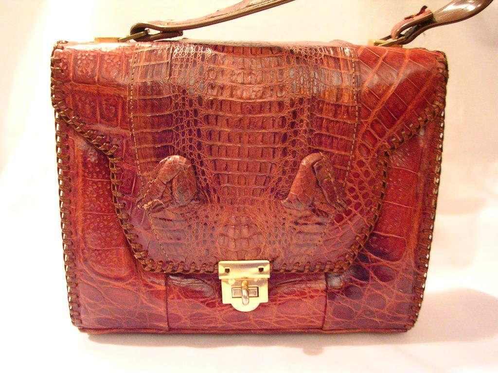 Etco Alligator Leather Purse Florida 1940s 215 00 Obo