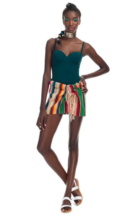 'Chateau' Swimsuit from Prism and Vintage Saltillo Serape from Paula Rubenstein