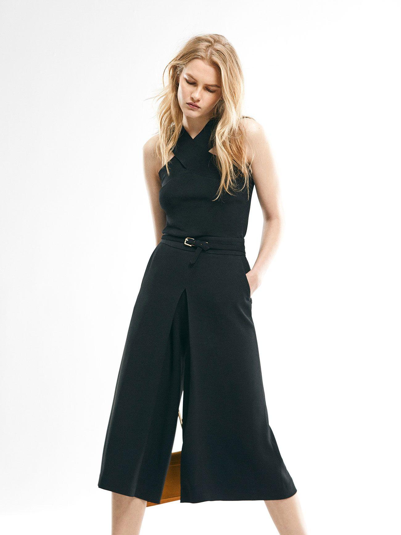 Neue Schnittmuster für auffällige Looks. Schwarzer Hosenrock aus ...