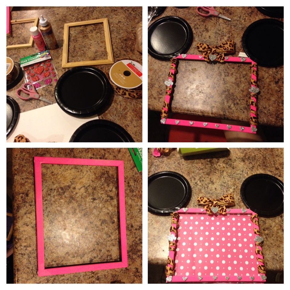 Diy Minnie Mouse Frame I Am Using This For My Daughters Candy