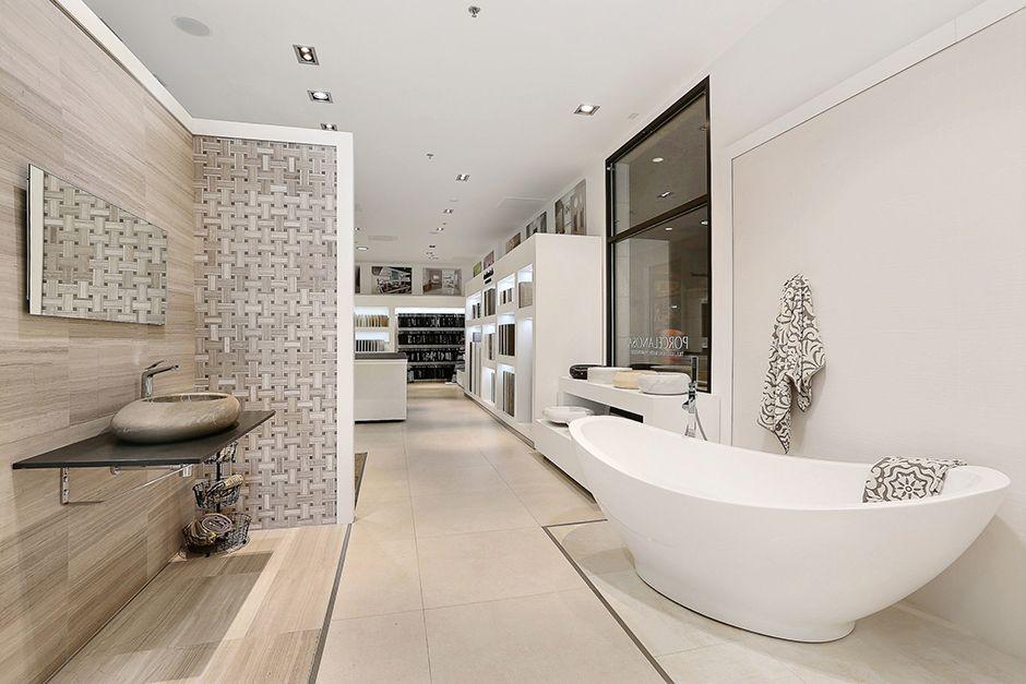 Denver Showroom | Porcelanosa | Laundry in bathroom, Loft ...