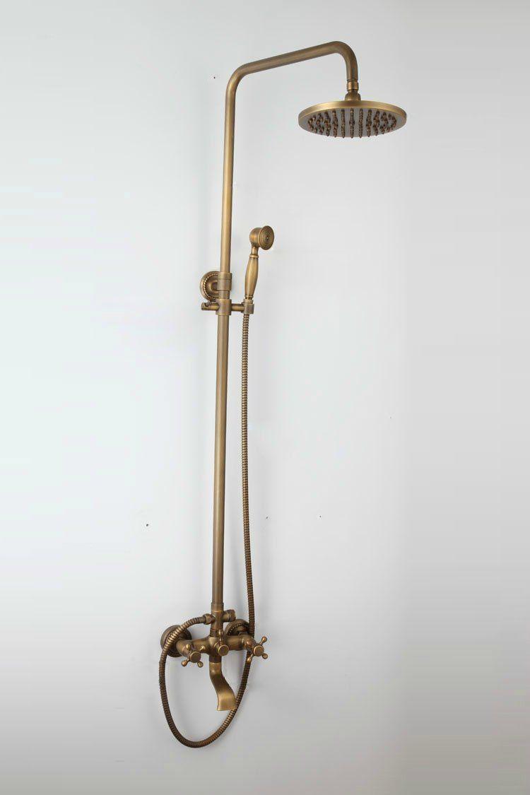 Messing Antik Badewanne Dusche Wasserhahn Mit 8 Zoll Duschkopf